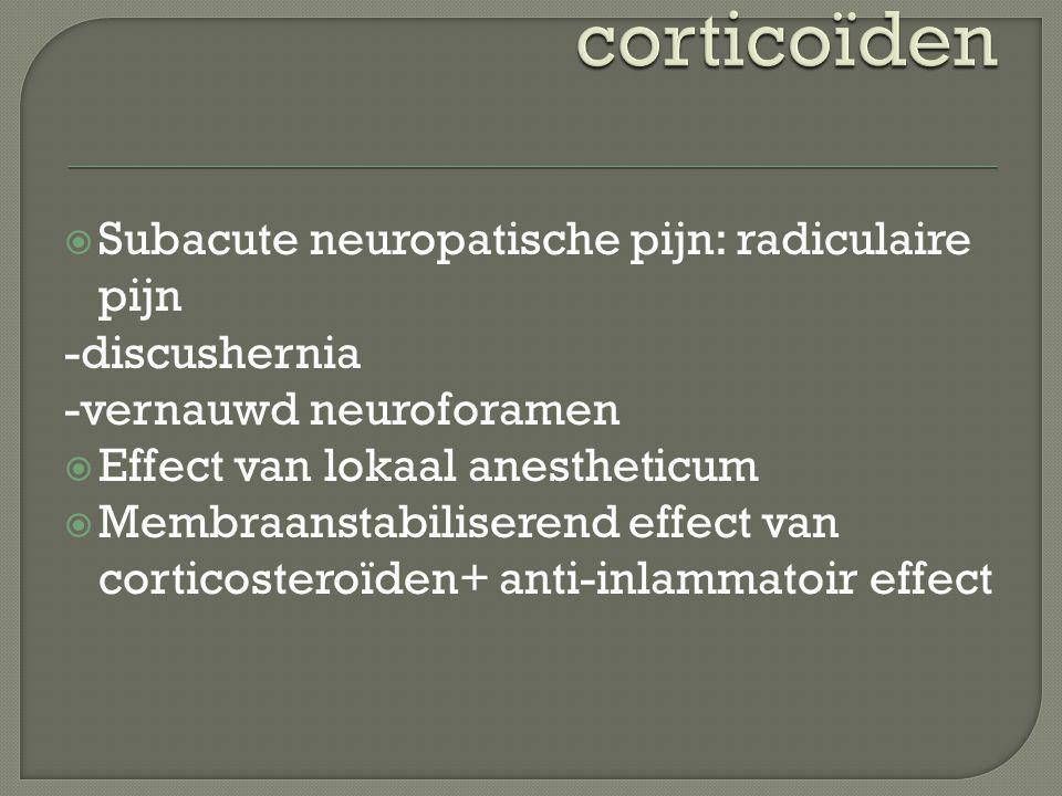 Subacute neuropatische pijn: radiculaire pijn