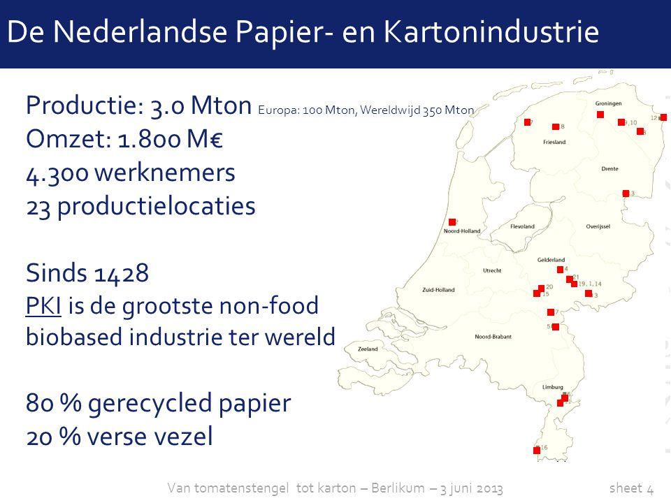 De Nederlandse Papier- en Kartonindustrie