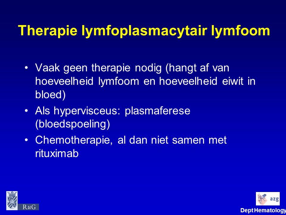 Therapie lymfoplasmacytair lymfoom