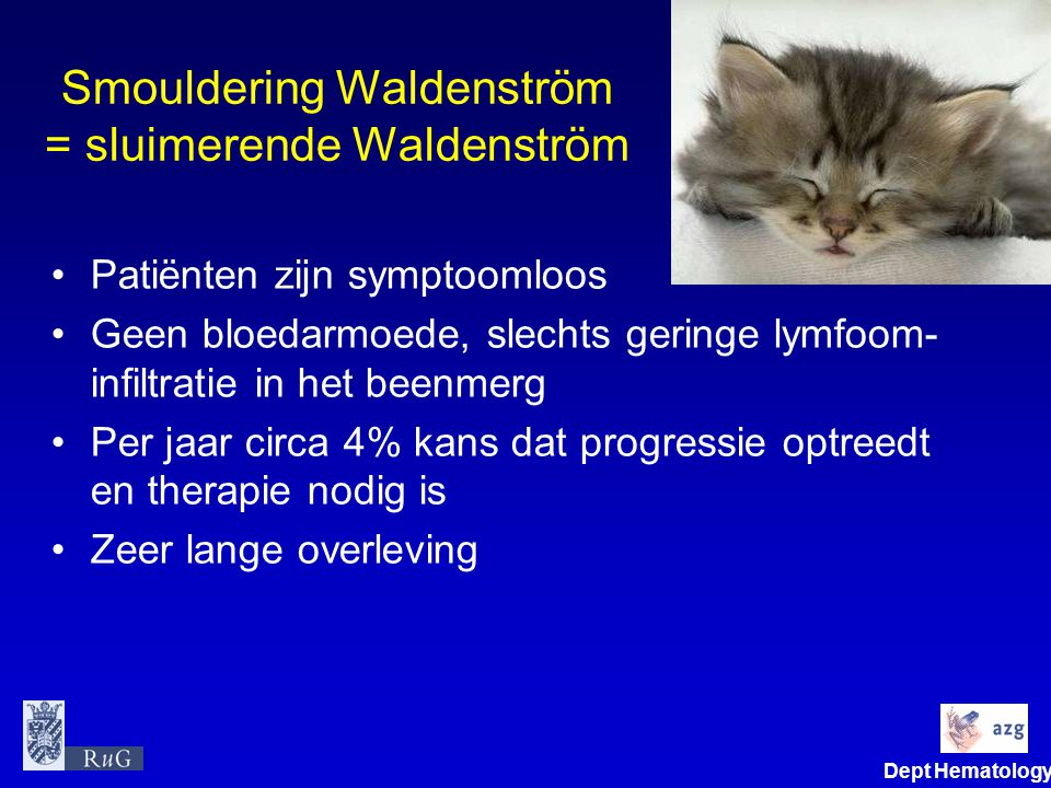 Smouldering Waldenström = sluimerende Waldenström