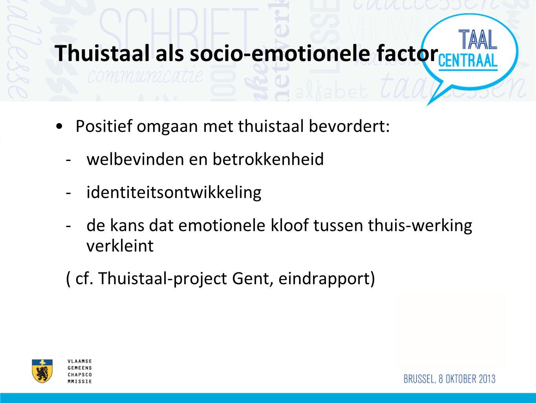 Thuistaal als socio-emotionele factor