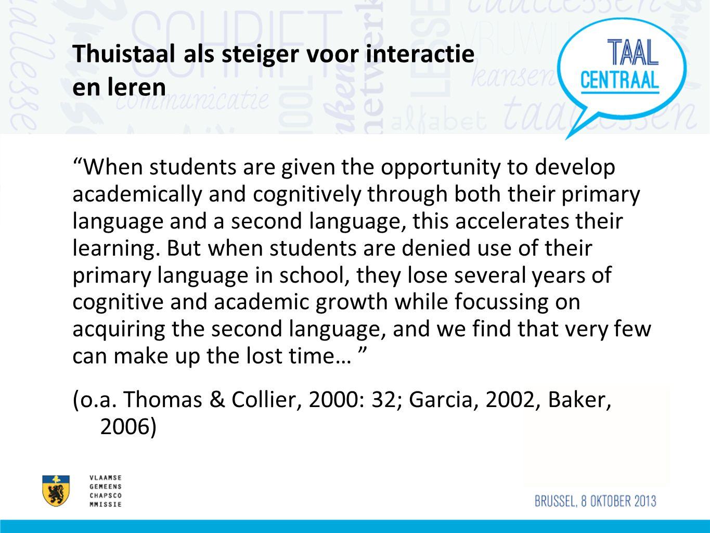 Thuistaal als steiger voor interactie en leren