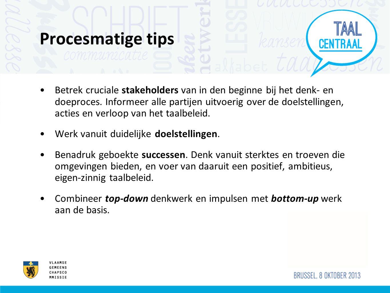 Procesmatige tips