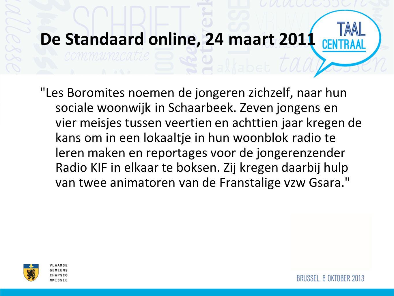 De Standaard online, 24 maart 2011