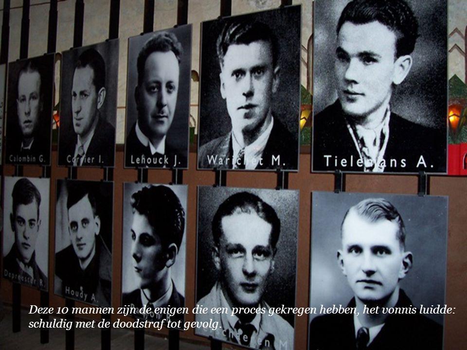 Deze 10 mannen zijn de enigen die een proces gekregen hebben, het vonnis luidde: schuldig met de doodstraf tot gevolg.