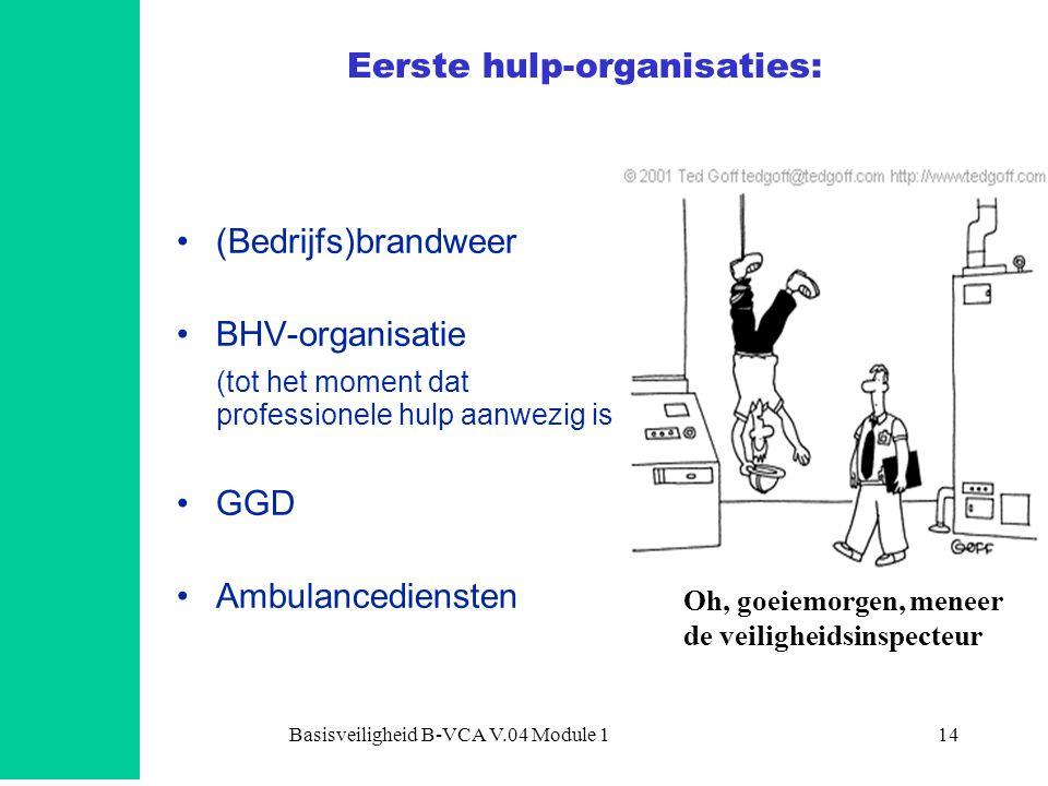 Eerste hulp-organisaties: