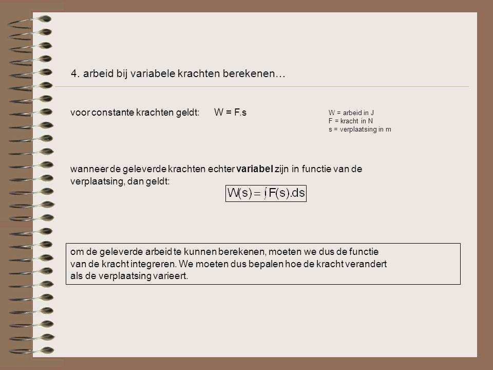 4. arbeid bij variabele krachten berekenen…