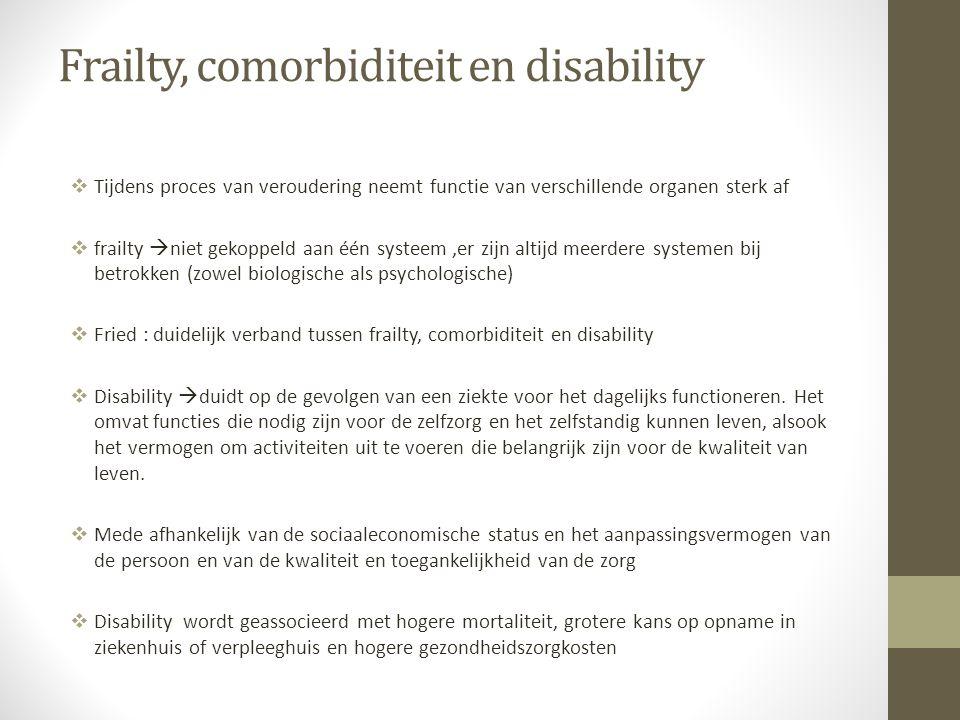 Frailty, comorbiditeit en disability