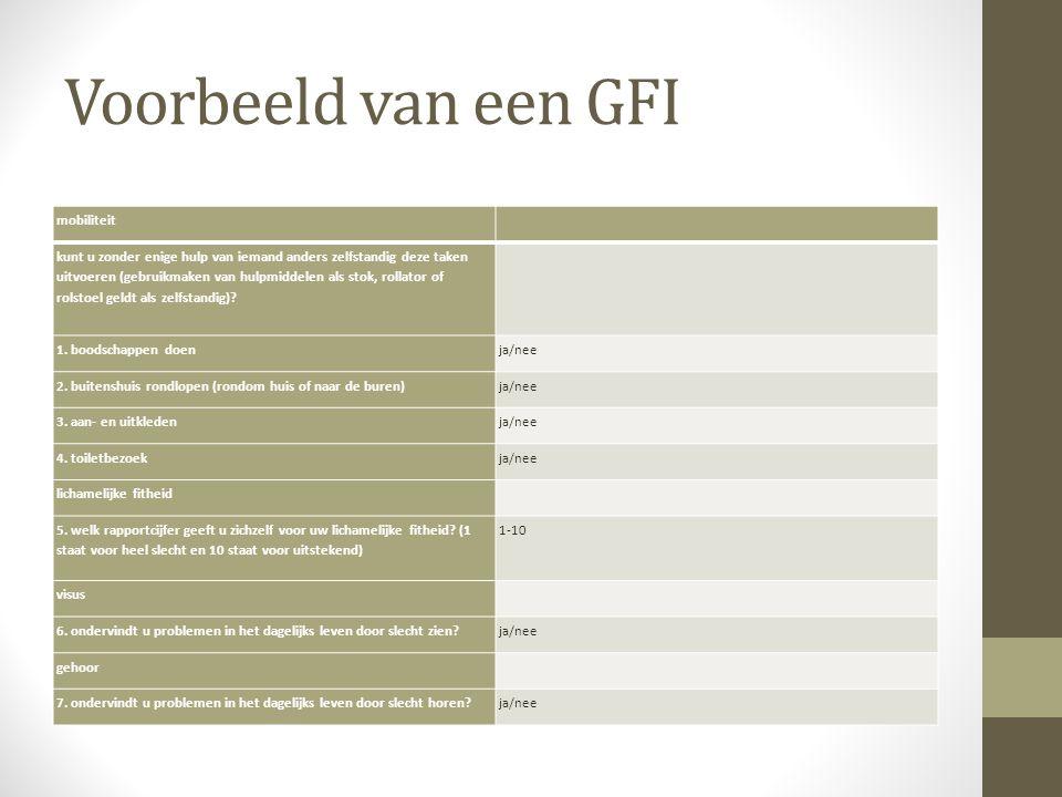 Voorbeeld van een GFI mobiliteit