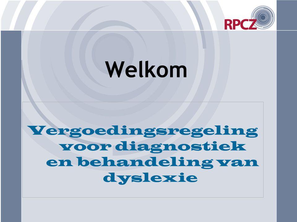 Vergoedingsregeling voor diagnostiek en behandeling van dyslexie