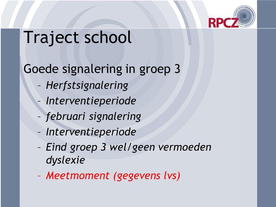 Traject school Goede signalering in groep 3 Herfstsignalering