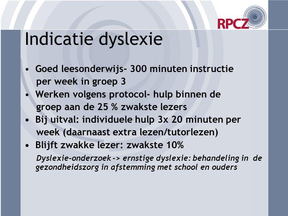 Indicatie dyslexie Goed leesonderwijs- 300 minuten instructie