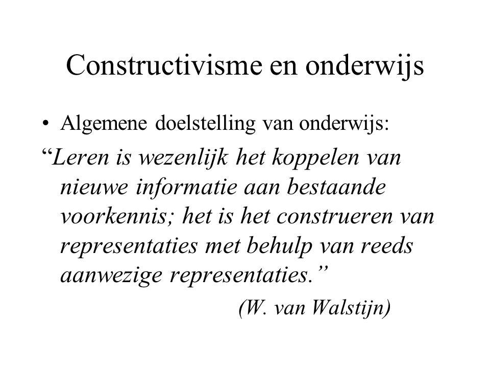 Constructivisme en onderwijs