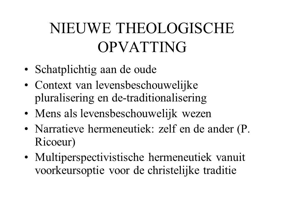 NIEUWE THEOLOGISCHE OPVATTING