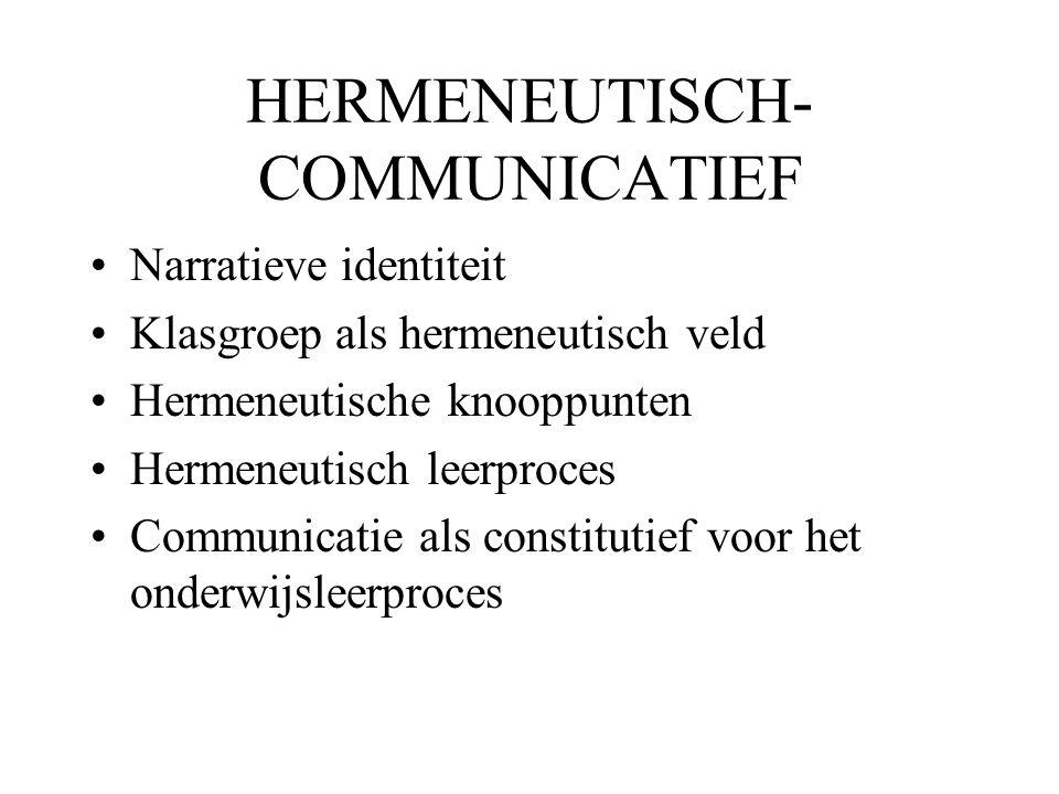 HERMENEUTISCH-COMMUNICATIEF