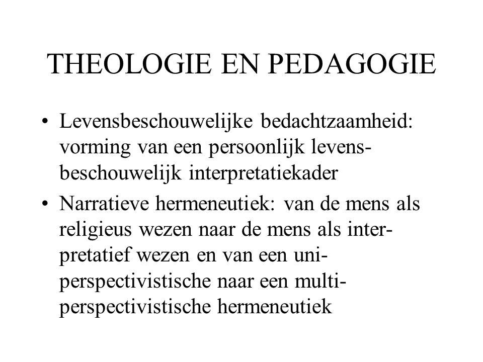 THEOLOGIE EN PEDAGOGIE