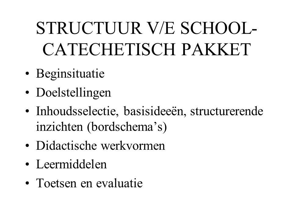 STRUCTUUR V/E SCHOOL-CATECHETISCH PAKKET