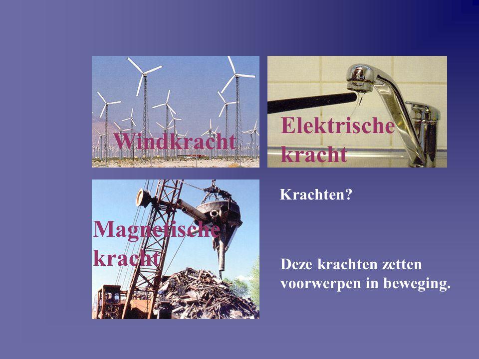 Elektrische kracht Windkracht Magnetische kracht Krachten