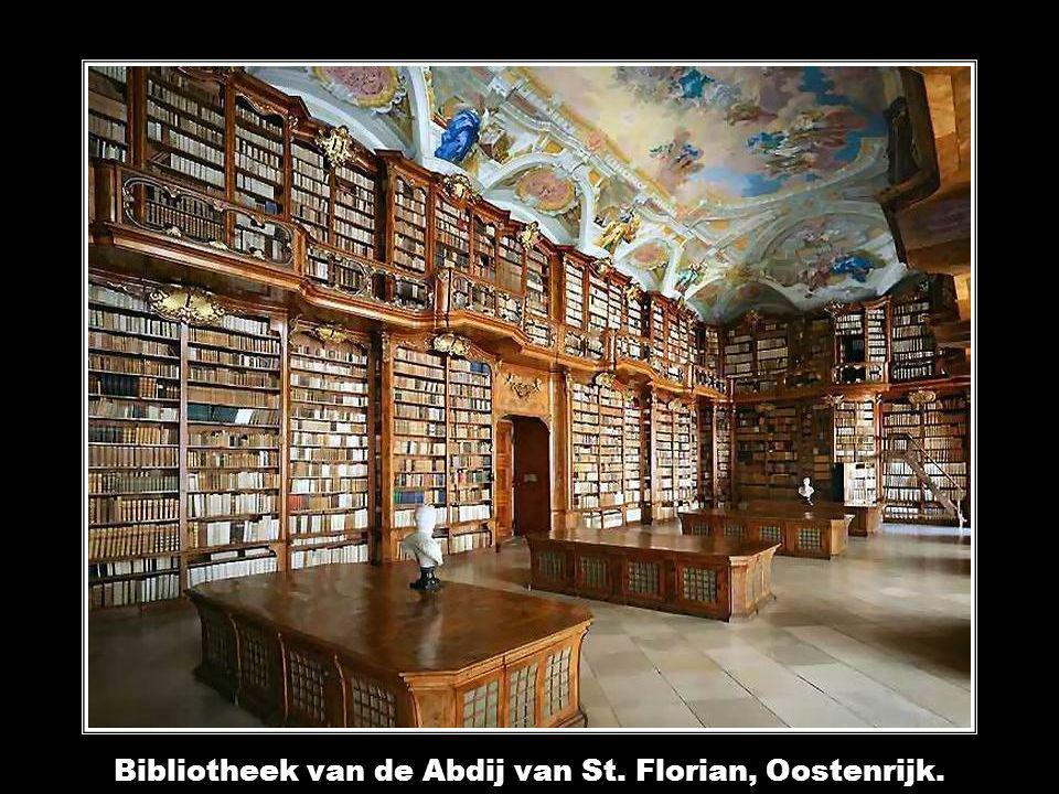 Bibliotheek van de Abdij van St. Florian, Oostenrijk.
