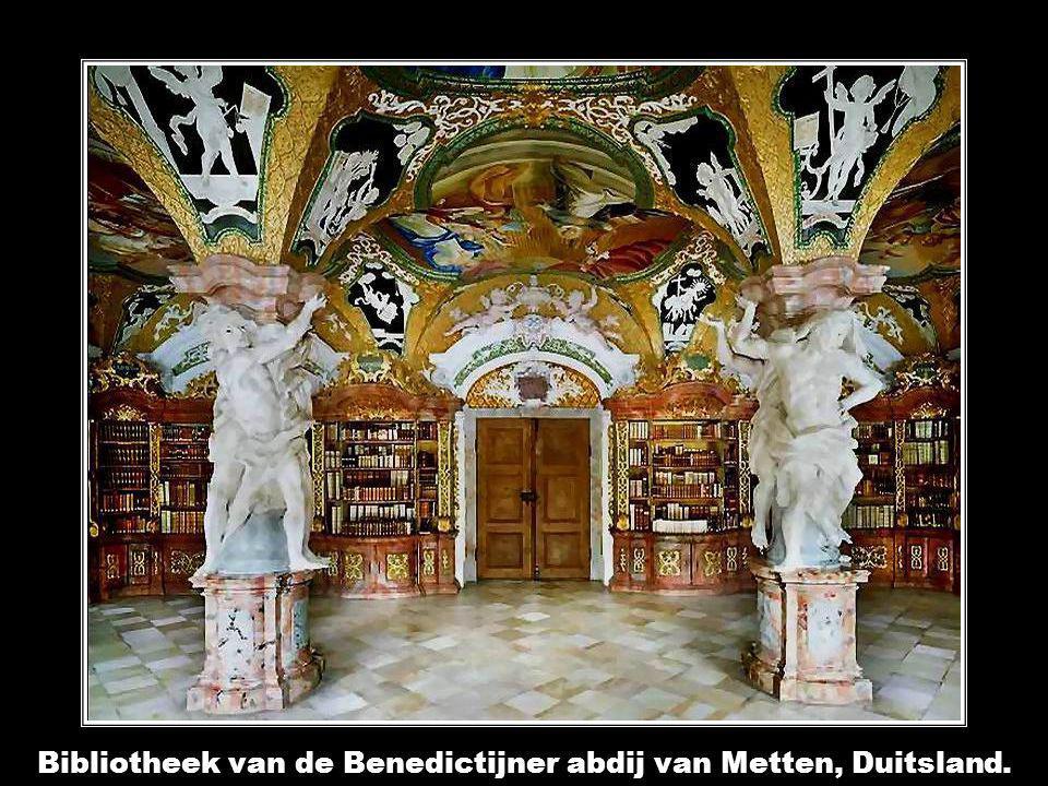 Bibliotheek van de Benedictijner abdij van Metten, Duitsland.