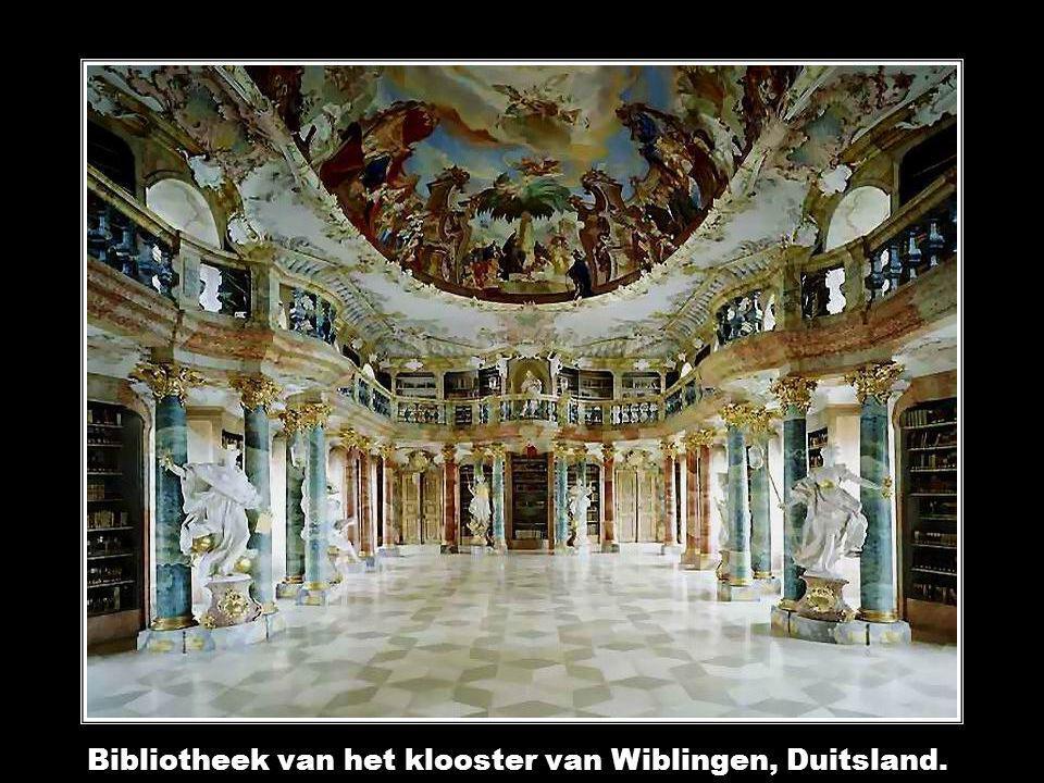 Bibliotheek van het klooster van Wiblingen, Duitsland.