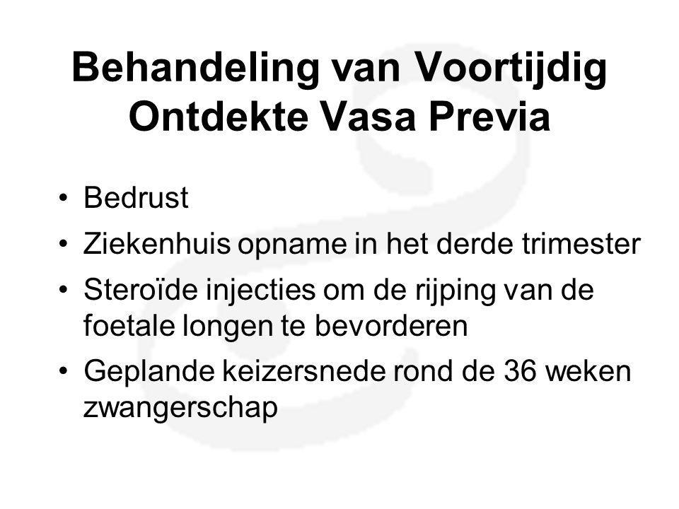Behandeling van Voortijdig Ontdekte Vasa Previa