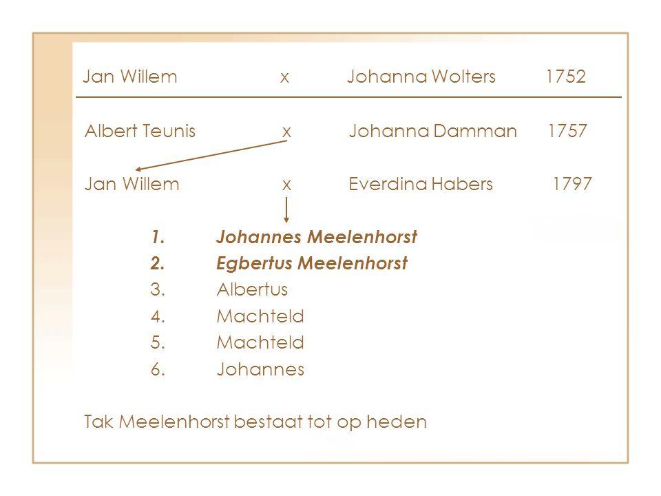 Jan Willem x Johanna Wolters 1752