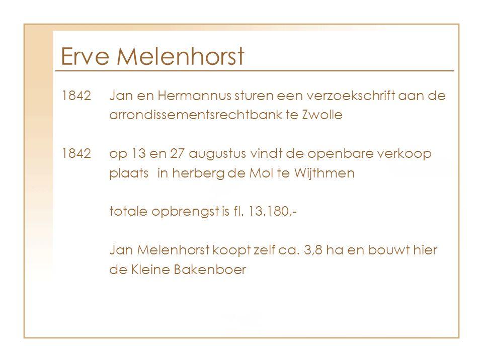 Erve Melenhorst 1842 Jan en Hermannus sturen een verzoekschrift aan de