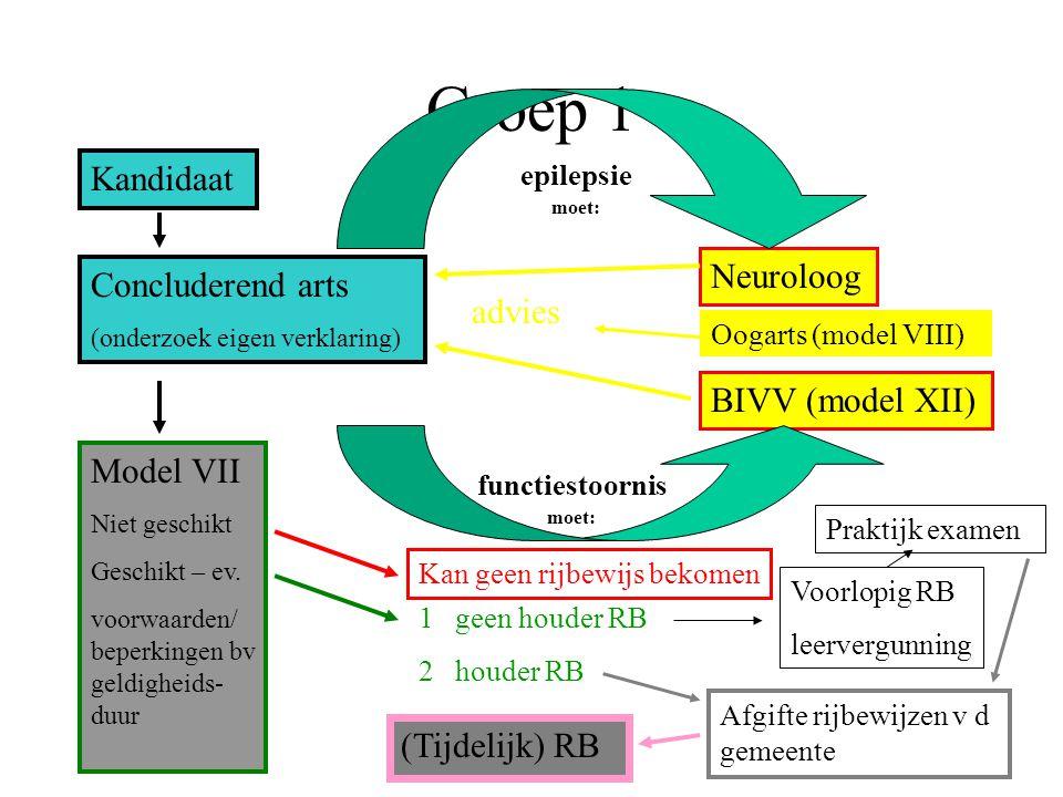 Groep 1 Kandidaat Neuroloog Concluderend arts advies BIVV (model XII)