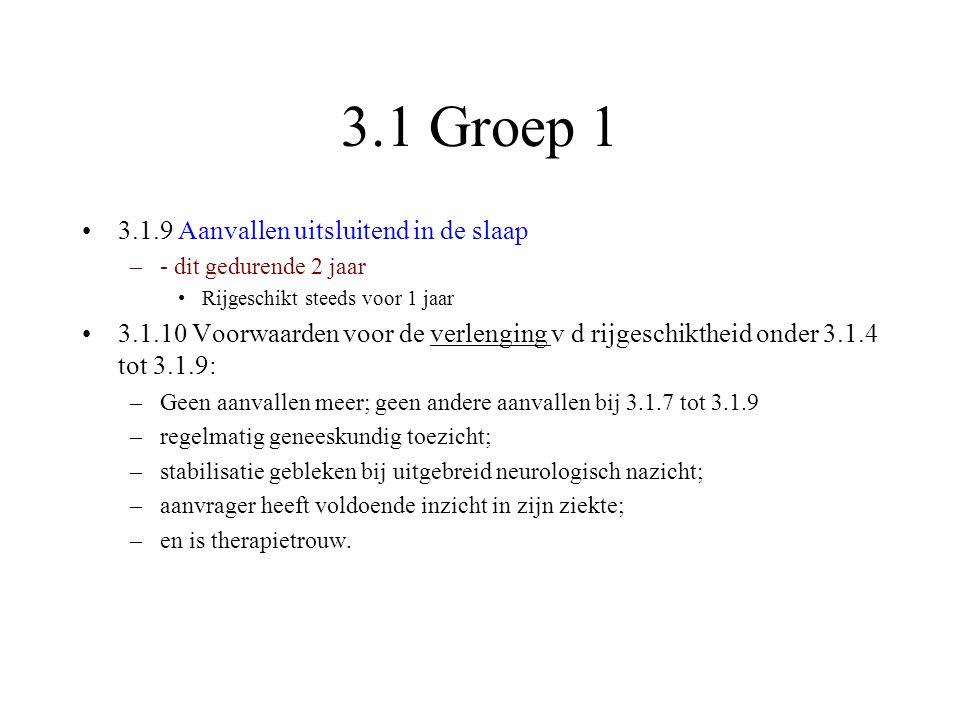 3.1 Groep 1 3.1.9 Aanvallen uitsluitend in de slaap