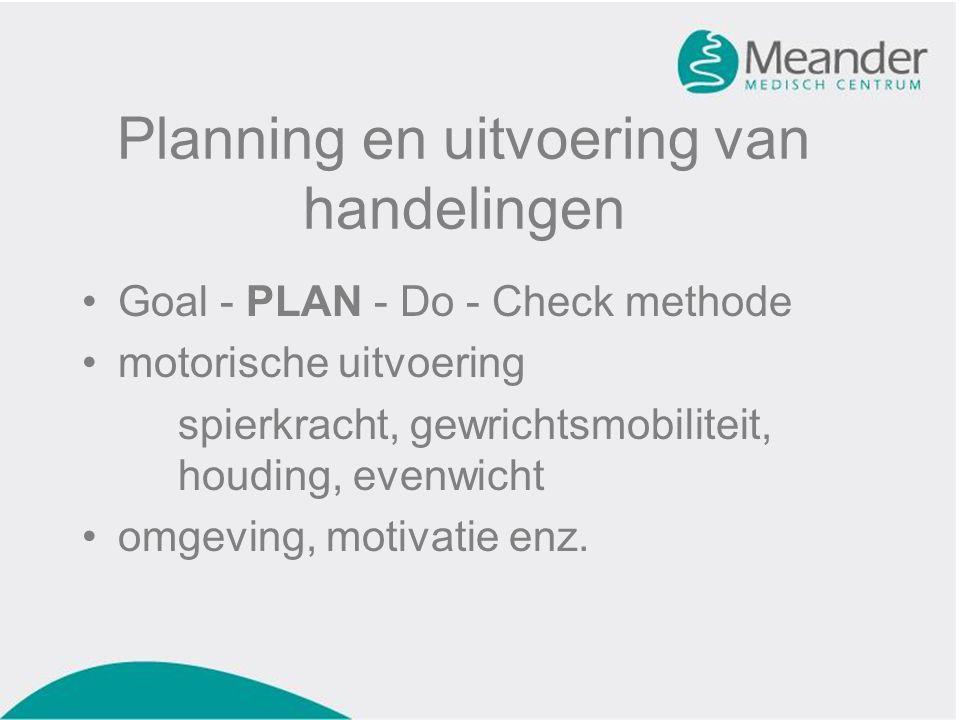 Planning en uitvoering van handelingen