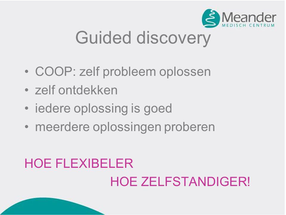 Guided discovery COOP: zelf probleem oplossen zelf ontdekken