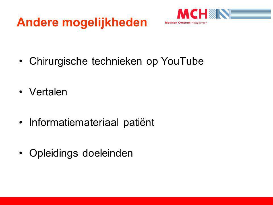 Andere mogelijkheden Chirurgische technieken op YouTube Vertalen