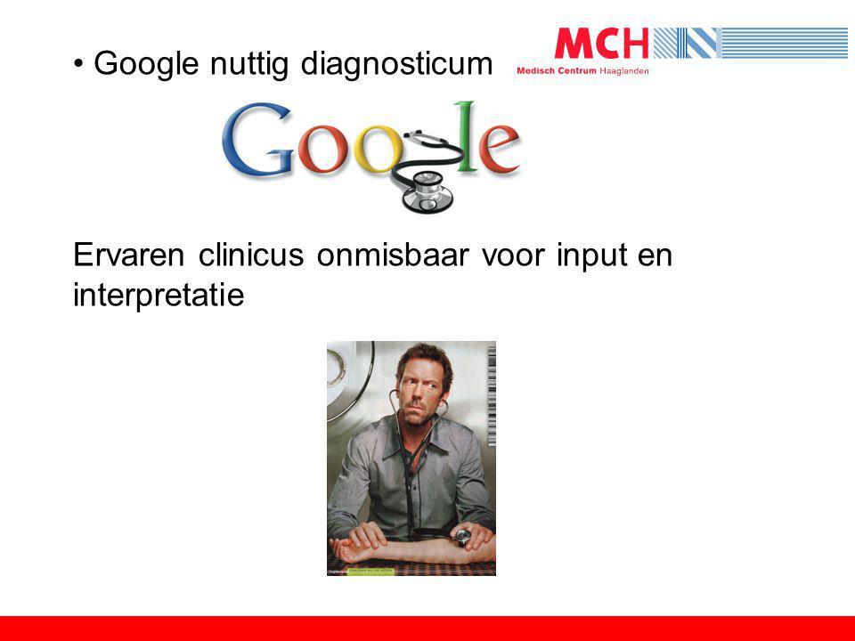 Google nuttig diagnosticum
