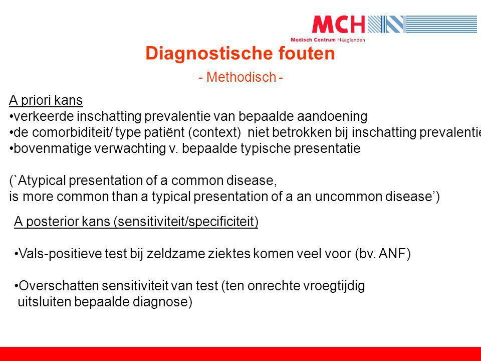 Diagnostische fouten - Methodisch -