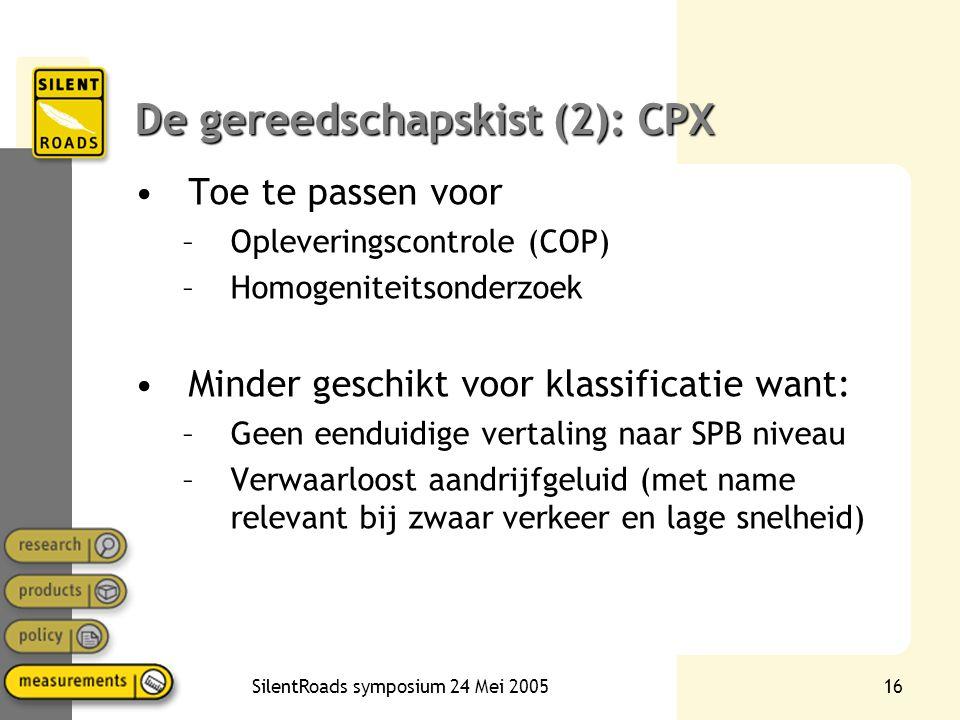 De gereedschapskist (2): CPX
