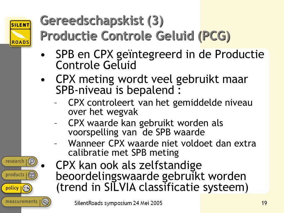 Gereedschapskist (3) Productie Controle Geluid (PCG)