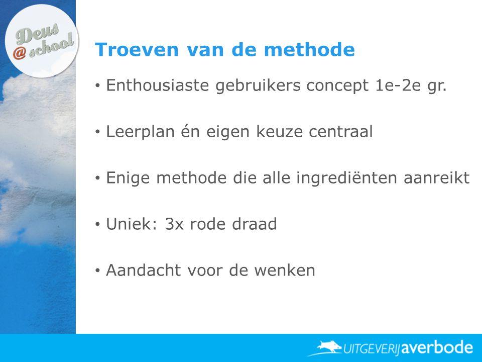 Troeven van de methode Enthousiaste gebruikers concept 1e-2e gr.
