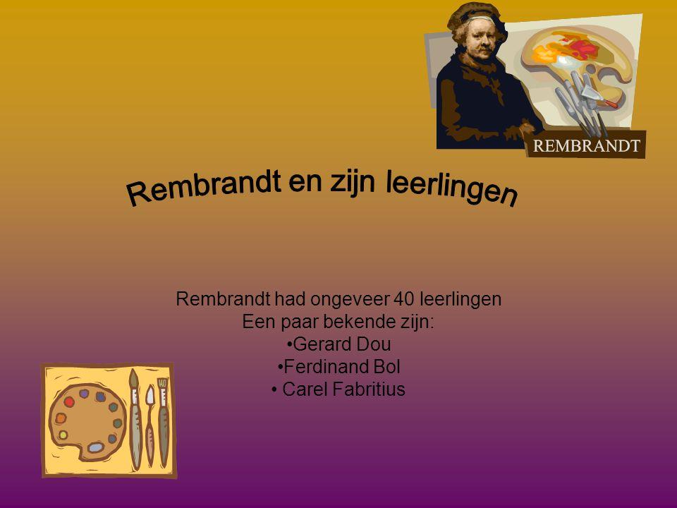 Rembrandt en zijn leerlingen