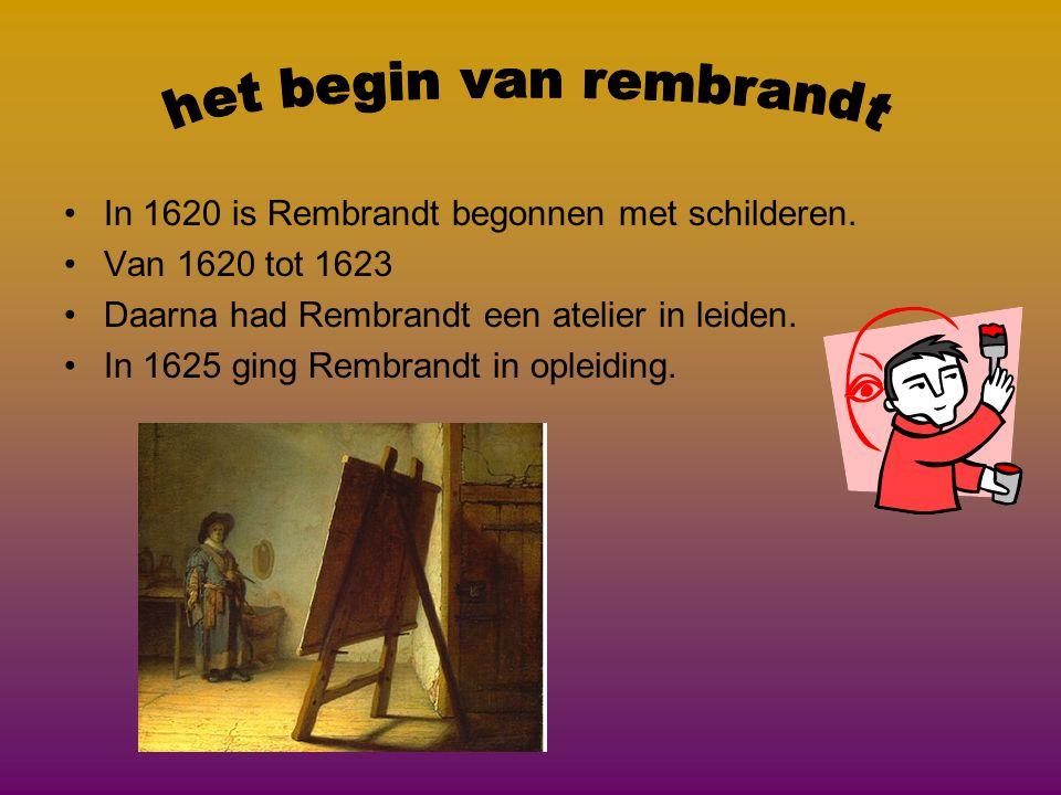 het begin van rembrandt