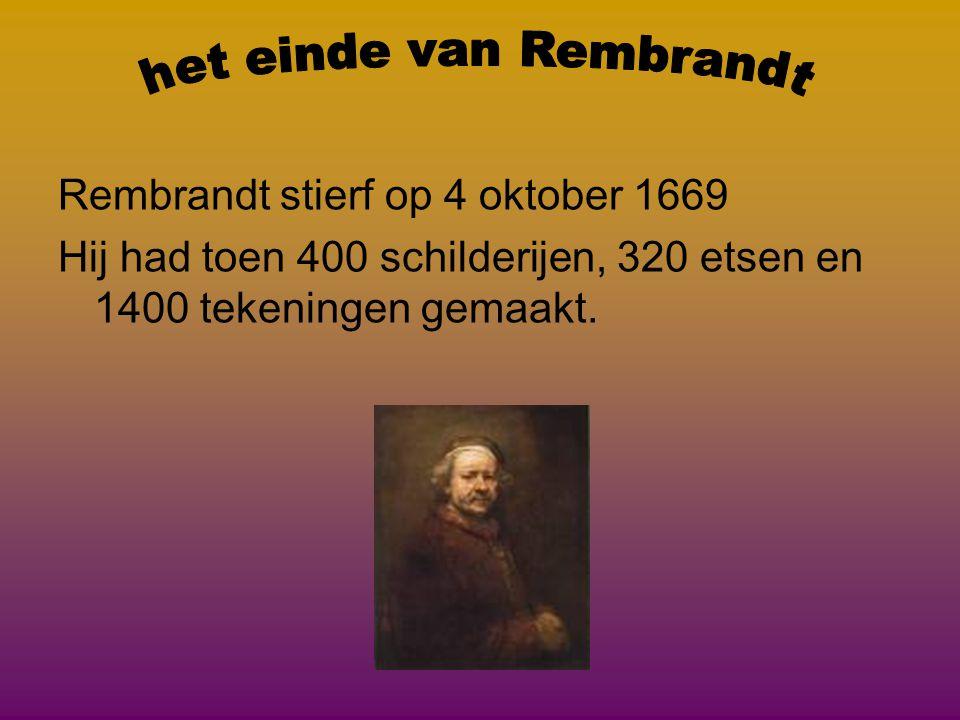 het einde van Rembrandt