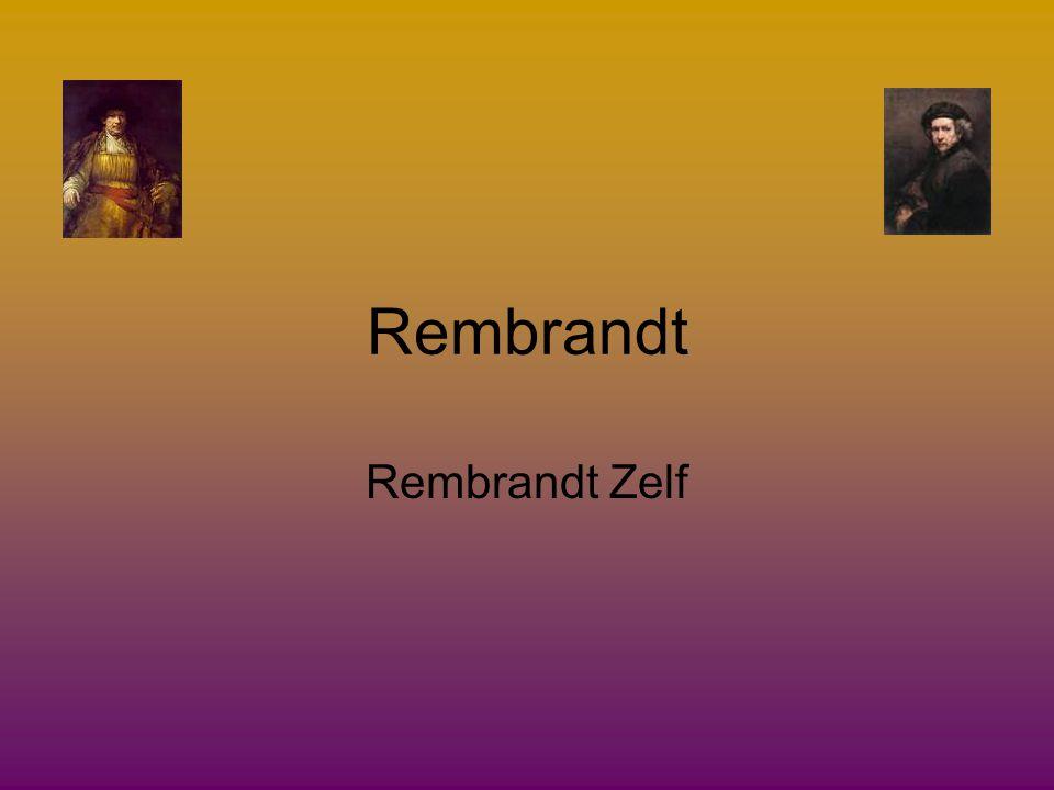 Rembrandt Rembrandt Zelf
