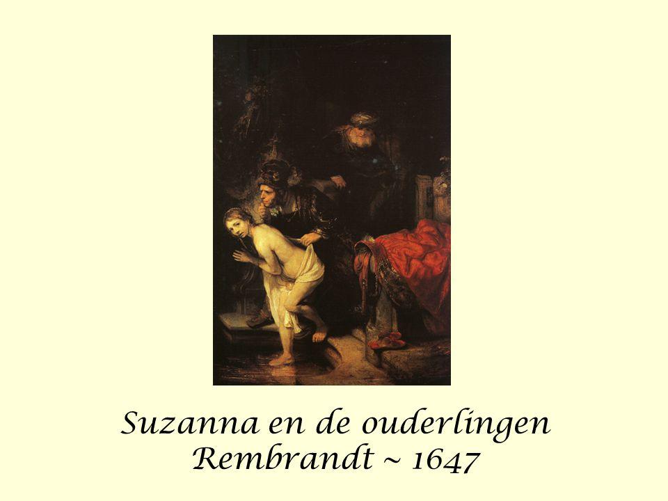 Suzanna en de ouderlingen Rembrandt ~ 1647