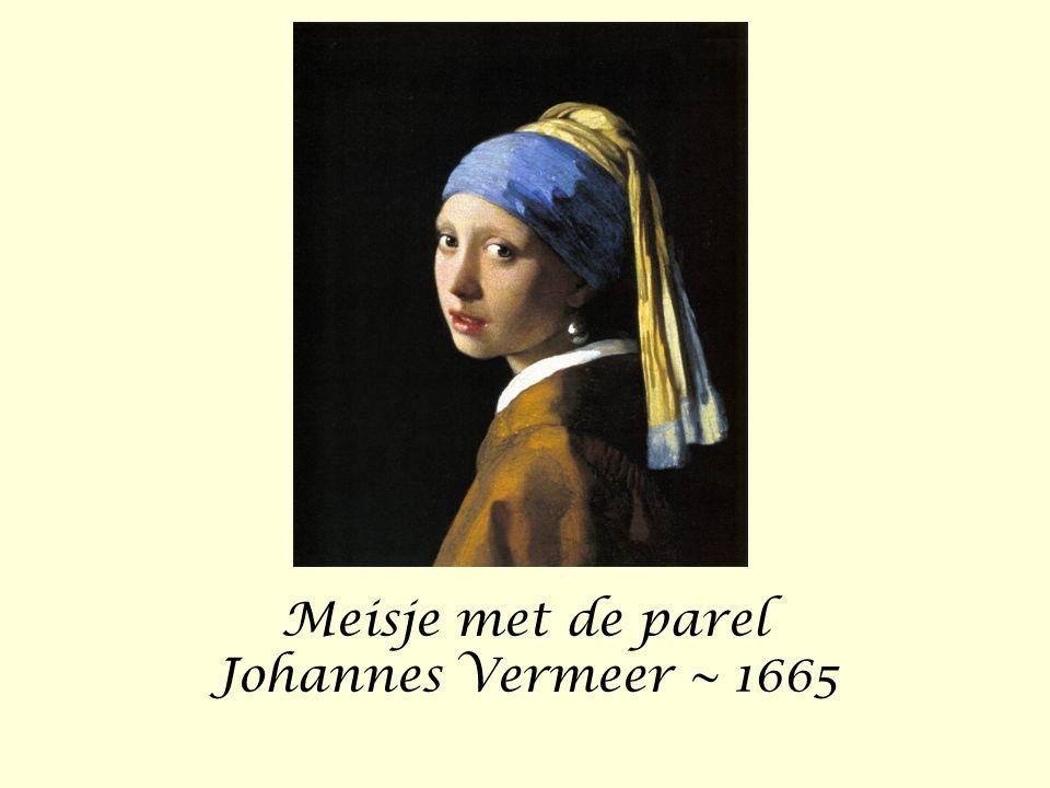 Meisje met de parel Johannes Vermeer ~ 1665