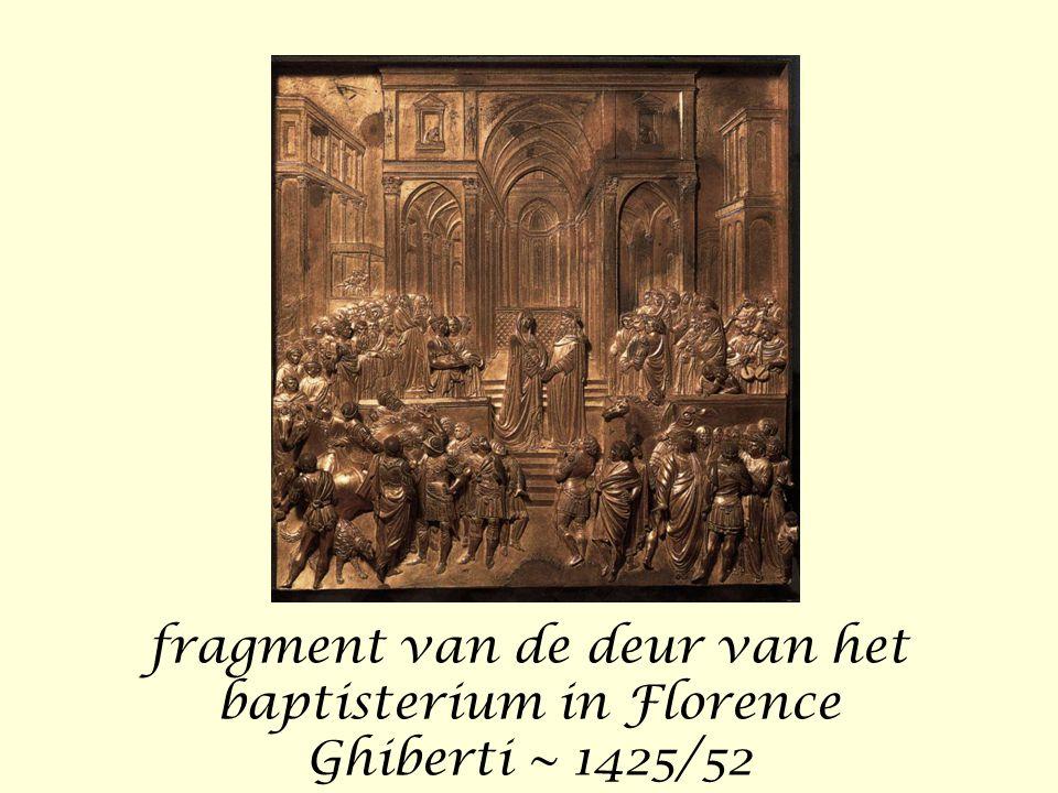 fragment van de deur van het baptisterium in Florence Ghiberti ~ 1425/52