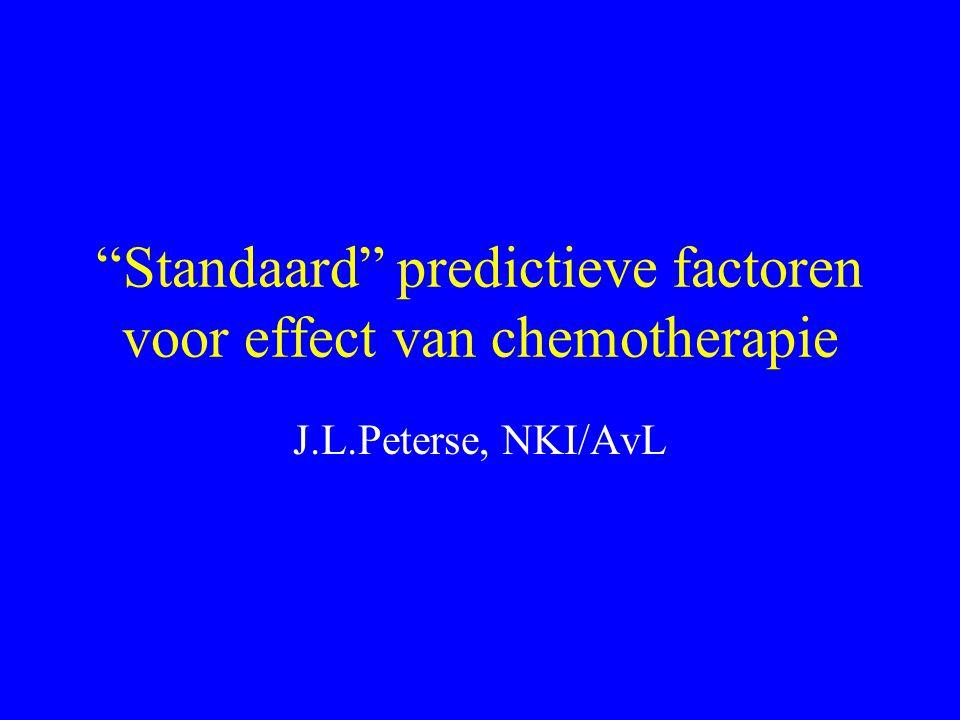 Standaard predictieve factoren voor effect van chemotherapie