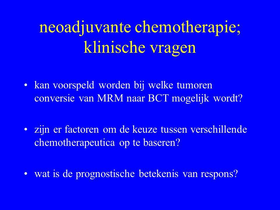 neoadjuvante chemotherapie; klinische vragen