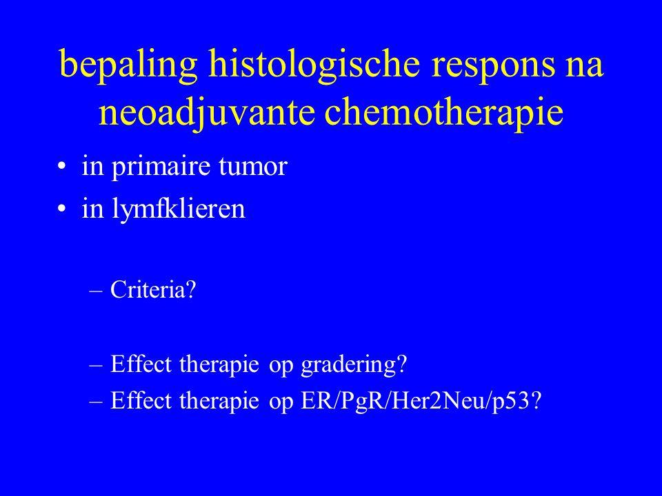 bepaling histologische respons na neoadjuvante chemotherapie
