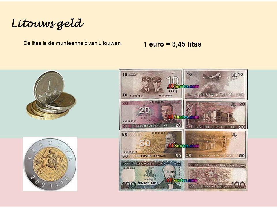 Litouws geld 1 euro = 3,45 litas