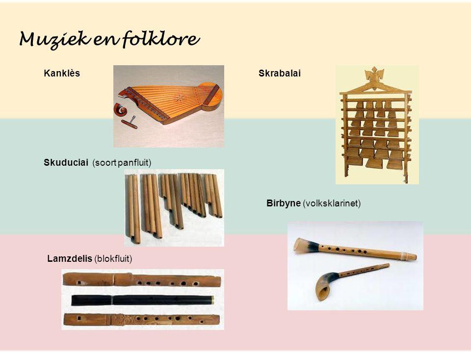 Muziek en folklore Kanklès Skrabalai Skuduciai (soort panfluit)